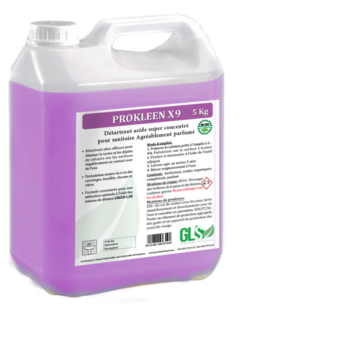 Détartrant désincrustant acide super concentré pour sanitaire.