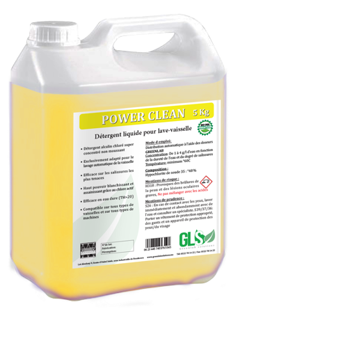 Agent désinfectant liquide pour rinçage des fruits et légumes.