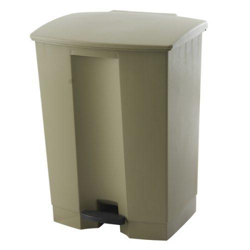 poubelle à pédale beige