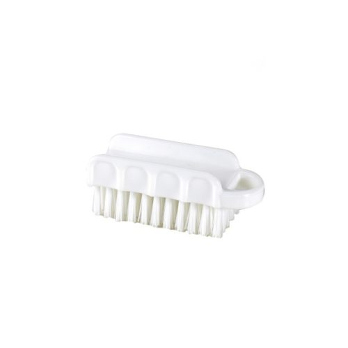 brosse à ongles blanche